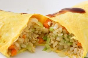 Brown Rice & Veg Omelette