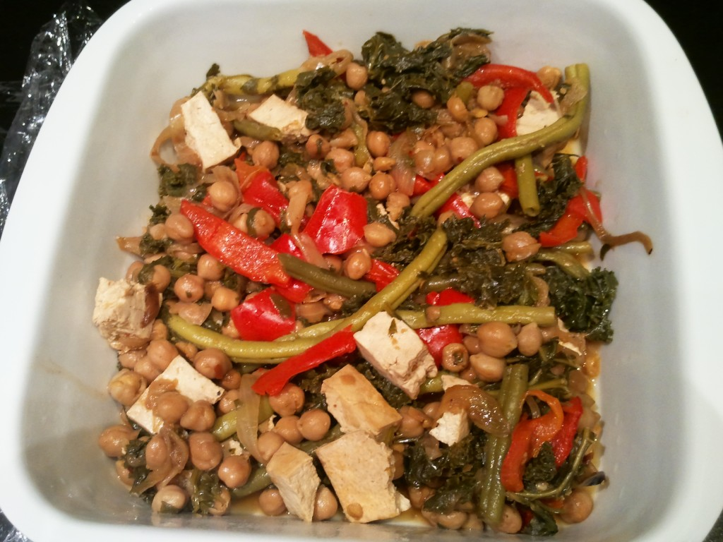 Green Beans, Chickpea & Kale Stir-fry |