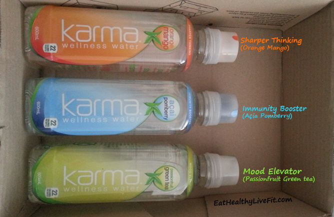 Karma Wellness Water BOX Flavours - EatHealthyLiveFit.com