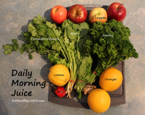Daily Morning Juice INGREDIENTS EatHealthyLiveFit.com